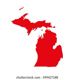 map of the U.S. state of Michigan
