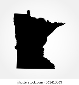map of the U.S. state of Minnesota .