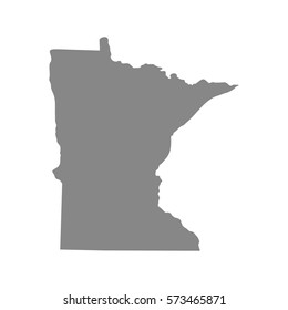 map of the U.S. state of Minnesota , vector