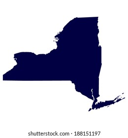 map of the U.S. state of New York