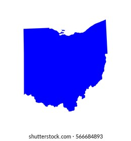 map of the U.S. state of Ohio , vector