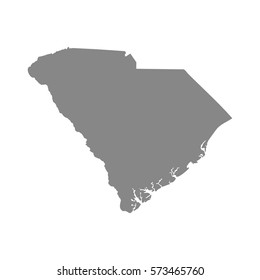 map of the U.S. state of South Carolina , vector