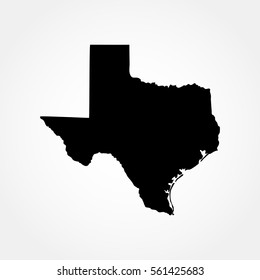 map of the U.S. state of Texas .