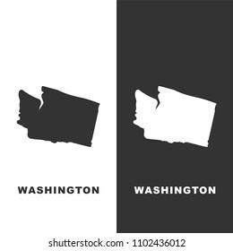 Map of the U.S. state of Washington on white background. Vector stock illustration.