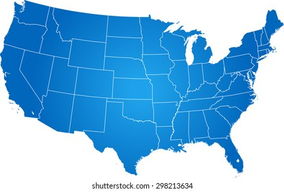 United States Map with States and Capitals Images, Stock ...