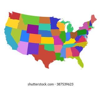 1000+ Usa Map Region Stock Images, Photos & Vectors ...