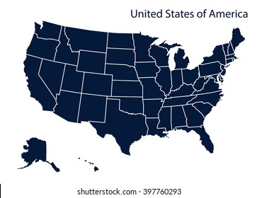North American Map United States Stock Illustrations, Images ...