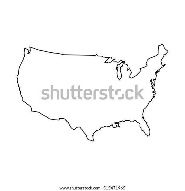 Yhdysvaltain Kartta Arkistovektori Rojaltivapaa 515471965