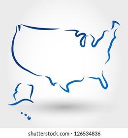 map of usa. map concept