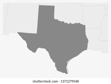 Texas Map Cities Images Stock Photos Vectors Shutterstock - Us-map-with-texas-highlighted