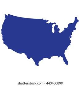 MAP U.S.A vector