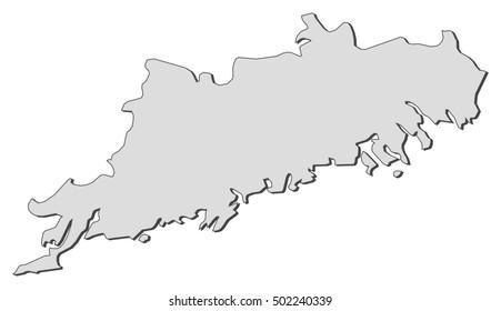 Map - Uusimaa (Finland)