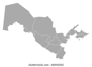 Map - Uzbekistan