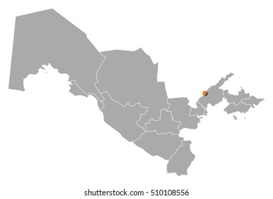 Map - Uzbekistan, Tashkent City