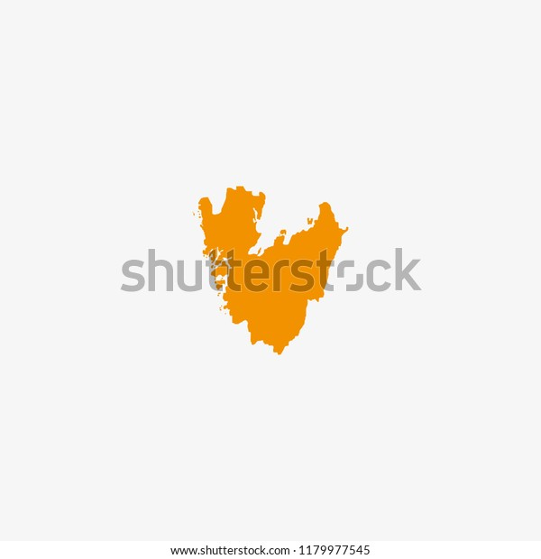 Map Vastra Gotaland County Sweden Vector Stock Vector Royalty Free 1179977545