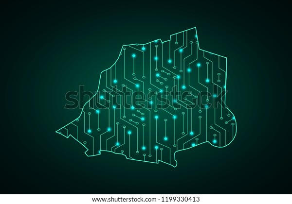 Map Vatican City State Network Line Stock Vector (Royalty