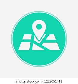 Map vector icon sign symbol