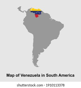 Map of Venezuela in South America isolated vector illustration