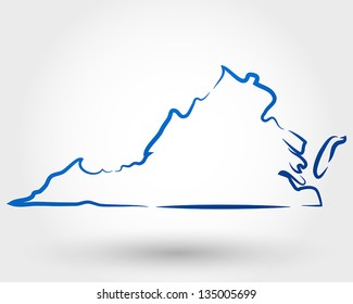 map of virginia. map concept