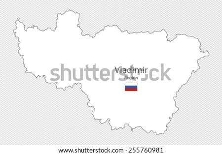 Vladimir Russia Map.Map Vladimir Region Russia Stock Vector Royalty Free 255760981