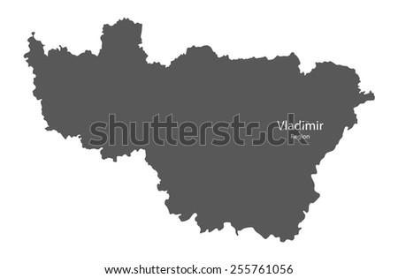 Vladimir Russia Map.Map Vladimir Region Russia Stock Vector Royalty Free 255761056