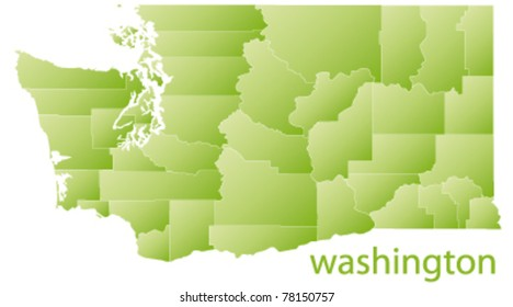 map of washington state, usa