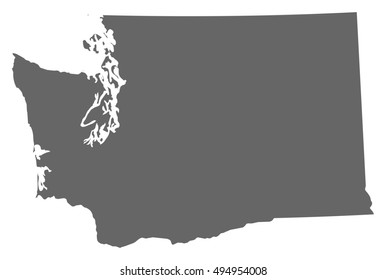 Wa State Map Images, Stock Photos & Vectors | Shutterstock