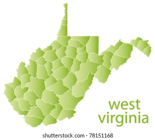 map of west virginia state, usa