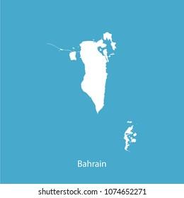 Map White Blue background  of bahrain vector illustration eps10.