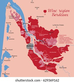 Map Of France Bordeaux.Wine Map Bordeaux Images Stock Photos Vectors Shutterstock