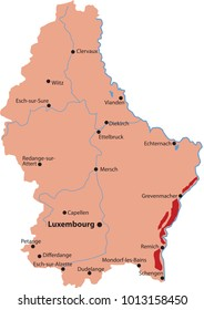 map wine  in luxembourg