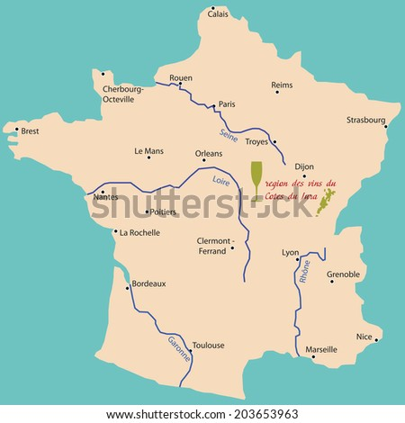 Map Of France Jura.Map Wine Region Jura France Stock Vector Royalty Free 203653963