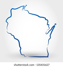 map of wisconsin. map concept