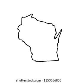 map of Wisconsin. vector illustration