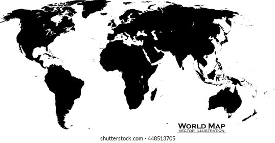 Map Of World Vector.Template World Map Planet Earth Silhouettes Stock Vector Royalty