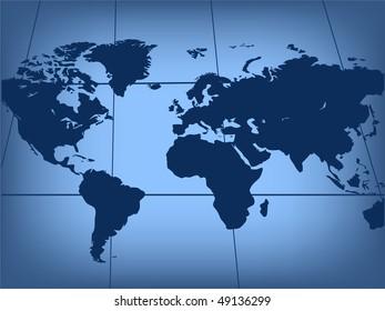 Map of world. Vector illustration