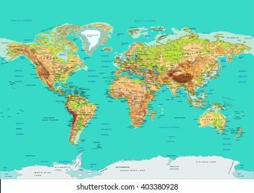 World map with country names images stock photos vectors map of the world vector illustration names of countries and cities continents gumiabroncs Images