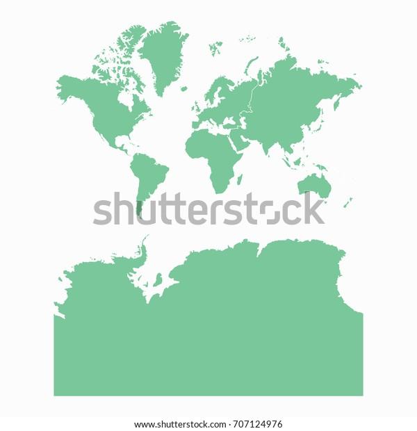 Mapcontinents Antarctica Map Each City Border Stock ...