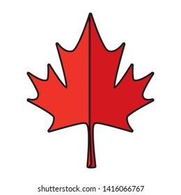 maple leaf canadian symbol icon