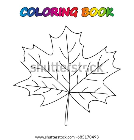 Maple Leaf Coloring Book Coloring Page Stock Vector Royalty Free