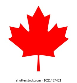 Maple Leaf Icon. Canadian Maple Leaf Icon