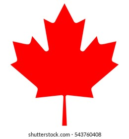 Maple leaf isolated illustration. Vector Canadian Maple Leaf Icon. Simple maple leaf. Maple leaf vector icon. Canada vector symbol.