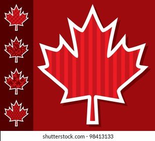 Maple leaf stickers in vector format.