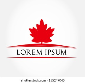 maple leaf symbol. vector illustration.