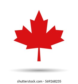 Maple leaf vector icon. Vector illustration