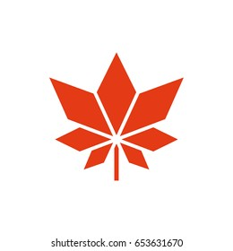 Maple leaf vector icon. Symbol of Canada
