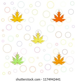 maple leaves autumnal vector background