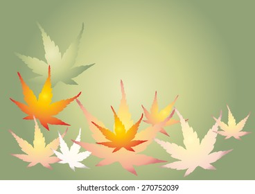 maple leaves card template vector illustration stock vector royalty