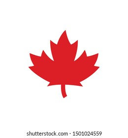 Maple Logo. Canada Symbol. Vector Icon.