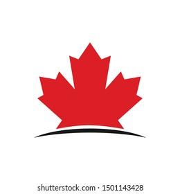 Maple Logo. Canada Symbol. Vector Icon.